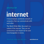 It's internet not Internet says the AP