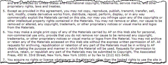 AP Terms of Use