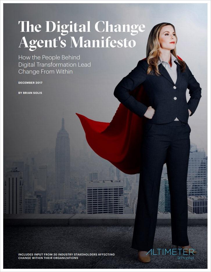The Digital Change Agent's Manifesto