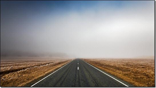 Misty road ahead