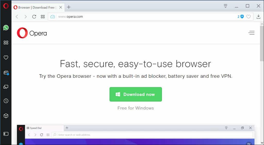 Opera: a good browser alternative to Google Chrome