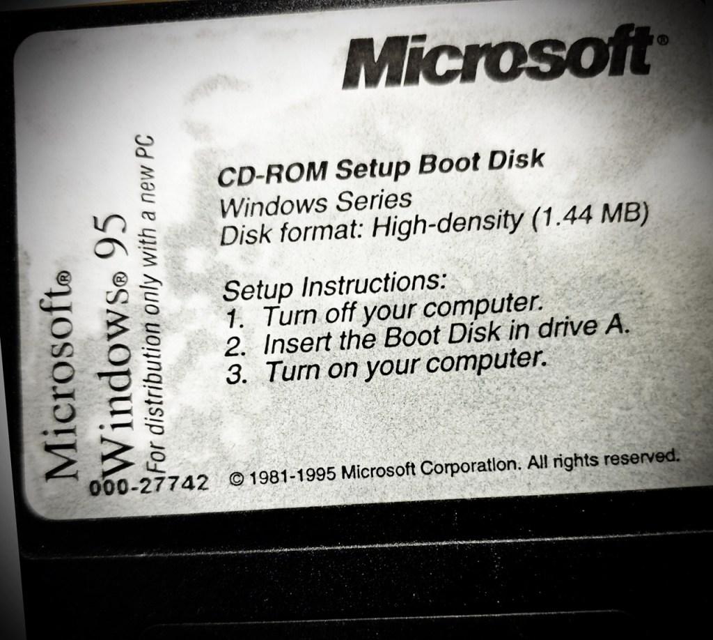 Windows 95 floppy