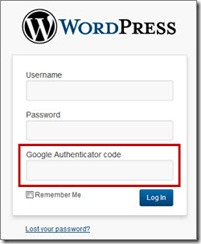 WordPress login with Google Authenticator