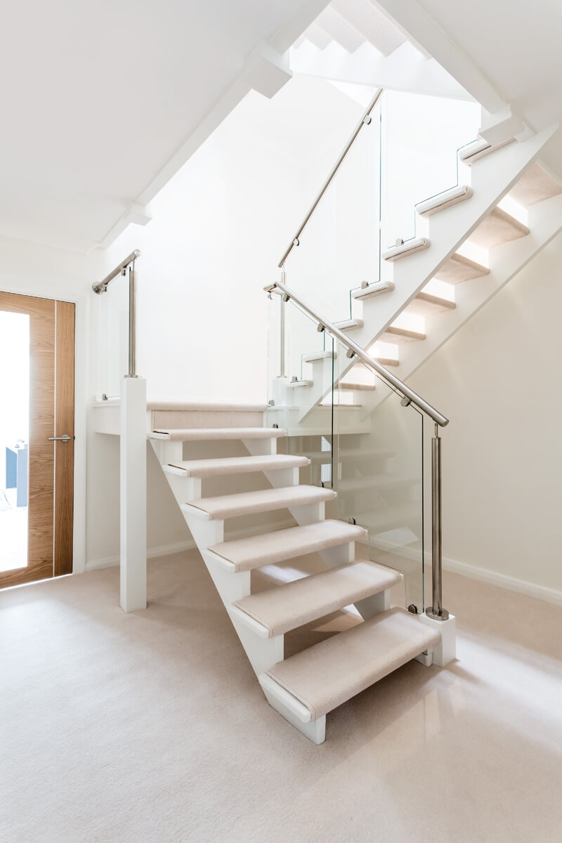 Glass And Steel Staircase Design Neville Johnson | Staircase Designs With Steel And Glass | Affordable | Outdoor | Railing | Spiral | Staircase Design Modern House