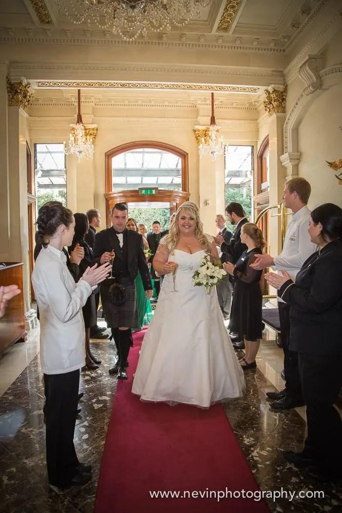 Bride & Groom welcomed at Shelbourne Hotel