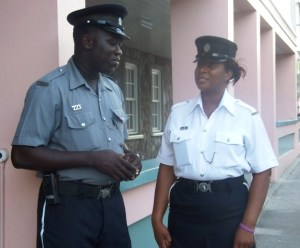 Two members of the Royal St. Christopher and Nevis Police Force
