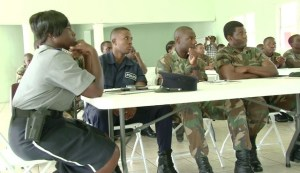 Participants at the start of the infantry exchange programme