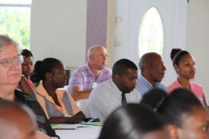 A section of participants at the Nevis Financial Services Regulation and Supervision Department's 2013 AML/CFT Awareness Seminar and Training Workshop on April 11, 2013