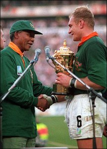 Mandela and Francois Pienaar