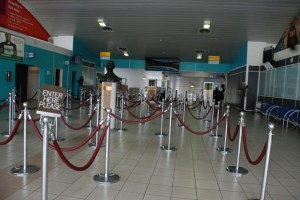 The Arrivals Hall at the Robert L. Bradshaw International Airport