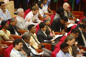 Journalists at the Press Conference in Sri Lanka