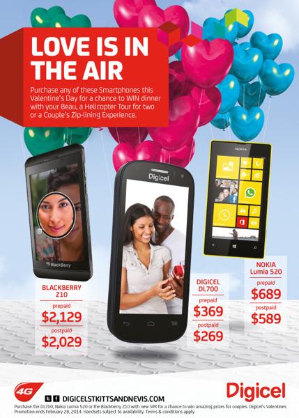 Digicel SKN-Valentines-Promo Smartphones