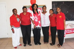 PEP Facilitators and their guests, from left: Ms Juliette Queeley, Mrs Celia Christopher, Mrs Amoy Arache, Ms Petra Newton, Mrs Diana Pemberton, and Ms Dawn Mills.
