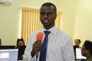 Head of the Information Technology Department in the Premier's Ministry on Nevis Quincy Prentice