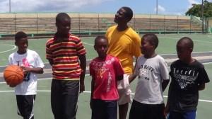 Young basketballers at summer camp