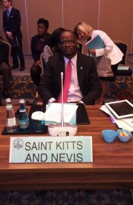 St. Kitts and Nevis' Minister of Foreign Affairs, the Hon. Patrice Nisbett at the CARICOM-Turkey meeting in Istanbul, Turkey