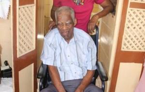 Mr. Herman Ward of Morning Star in 2013, he celebrated his 106th birthday in September 2014 (file photo)