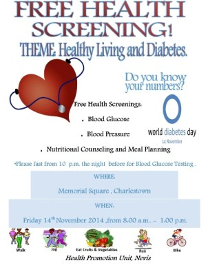 Diabetes day flyer new