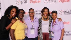 Digicel Representatives from Trinidad and Tobago, St. Lucia and Bonaire who attended the celebration in Los Angeles to honour families, supporters and Local Organizing Committees of the Special Olympics World Summer Games 2015