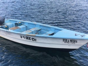 Boat Perla Negra. Small craft intercepted by SKN Coast Guard during Saturday 14 Nov Drug Seizure