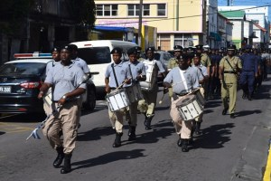 Commisssioner Queeley leads Parade on Thurday 17 March