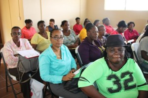 Participants of the opening ceremony of the Gingerland Community-Based Tourism Workshop hosted by the Ministry of Tourism in collaboration with the Organisation of the Eastern Caribbean States and Youth Path Incorporated on June 27, 2016, at the Hardtimes Conference Centre in Gingerland