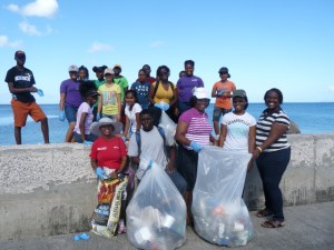 2.Clean Up CSS – A group of Charlestown Secondary School students participated at the NHCS Coastal Clean Up.