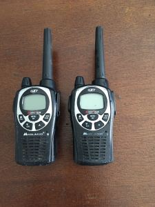 Hand held Radios found in search