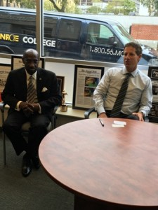 Ambassador Condor meeting with Executive VP at Monroe College, Mr.  Mark Jerome