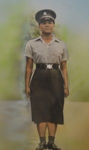 Ms Veronica Furlonge, 1st female Police Officer enlisted in St. Kitts and Nevis 1957.