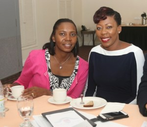 ABOVE : (Left to right) Product Standards Manager, Melnecia Marshall and Human Resource Manager, Camara Lee.