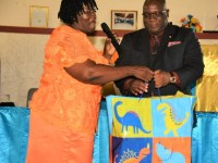 PM Harris receives birthday gift from a constituent