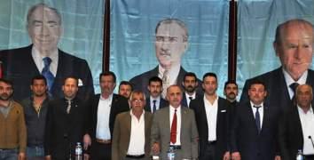MHP Merkez İlçe Kongresi Yapıldı  Mustafa Ceviz yeniden başkan