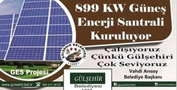 Gülşehir'de 899 KW GES projesi