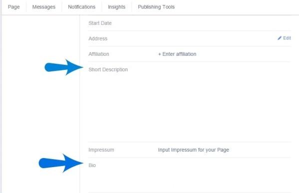 Create a Facebook Fan Page Bio
