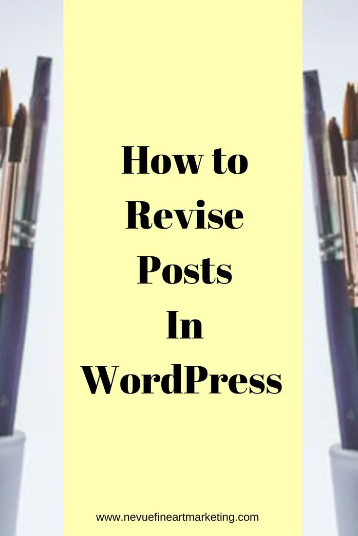 There will be a time that you will want to revise or edit a post that you have created in your artist blog. In this post, I will share with you how to revise posts in WordPress.