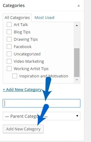 add category in wordpress post