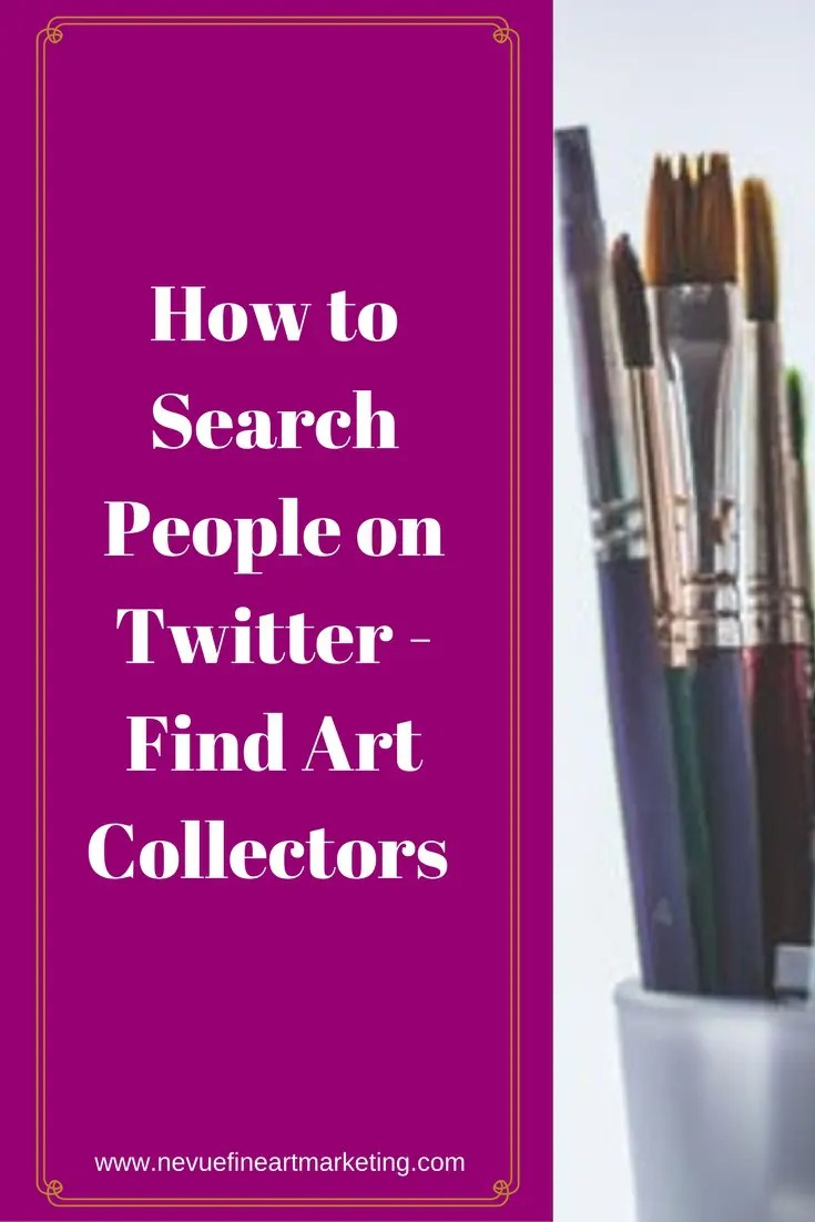Twitter is all about interacting with others. In this post, you will discover how easy it is to search people on Twitter. Finding the right people will help you build your artist brand.