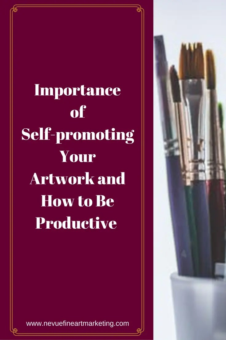 Are you wondering why your art is not selling? Do you regularly check your email to see if you landed a sale but there is nothing in your inbox except junk mail? In this post, you will discover the importance of self-promoting your artwork and how to be productive.