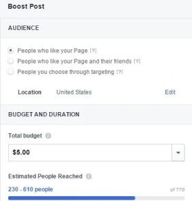 Boost Your Artist Facebook Posts