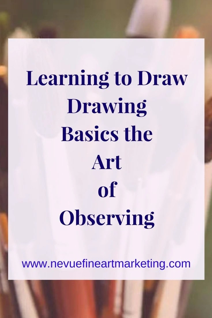 Drawing is a skill that can be learned just like riding a bike, driving a car, reading, writing. Learning to draw the art of observing.