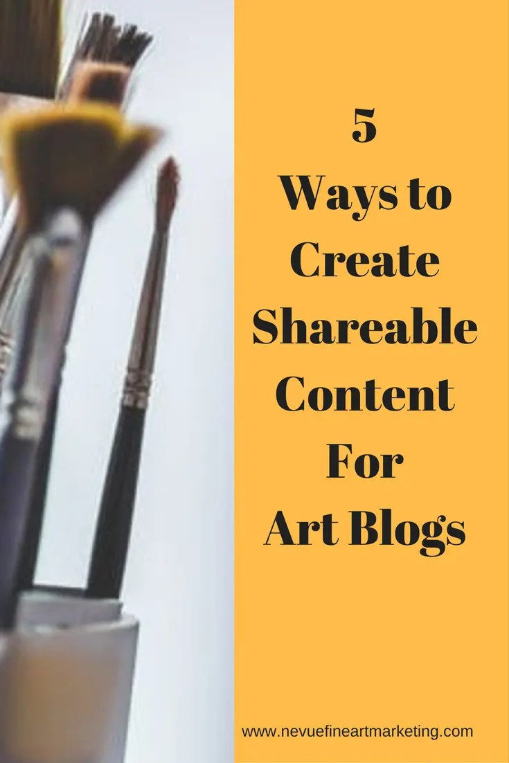 Are you finding it difficult to build your online audience? In this post, you will discover 5 ways to create shareable content for art blogs.