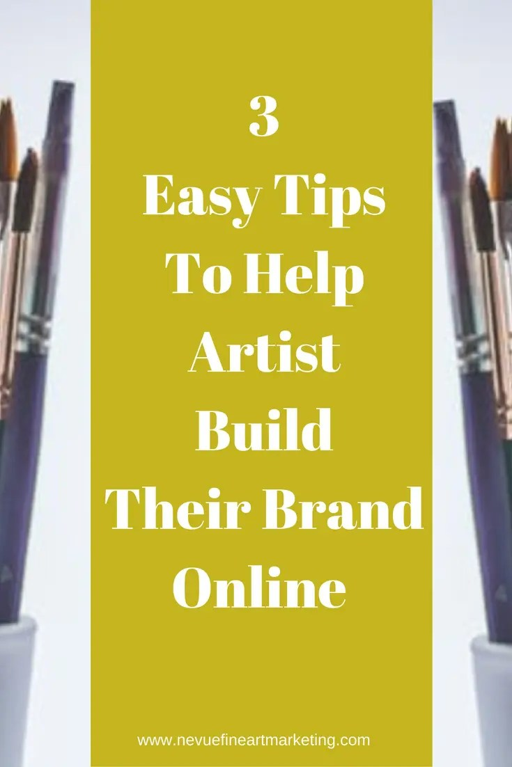 Are you becoming frustrated because no one is visiting your art blog or online art gallery? Discover 3 easy tips to help artists build their brand online.