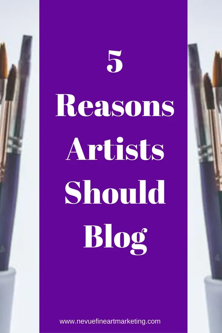 There are many reasons artists should blog. If you are interested in selling art online, you will have to find a way to have your art noticed by people who are interested in your artistic style.