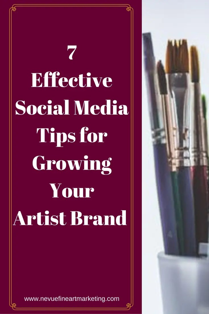 Have you recently decided that you should start promoting your art on social media to build an online presence? In this post, you will discover 7 effective social media tips for growing your artist brand so you can sell more art.