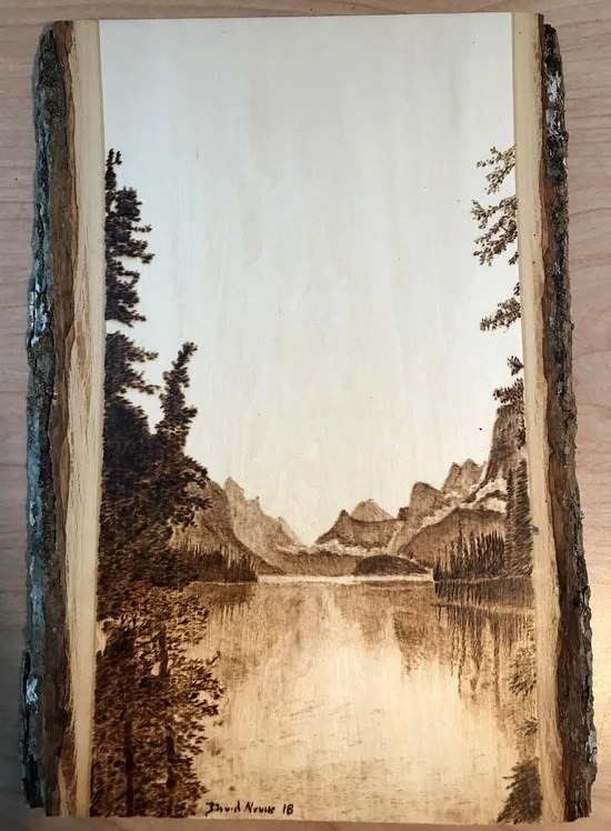 Peaceful Days Wood Burning by Dave Nevue 2018