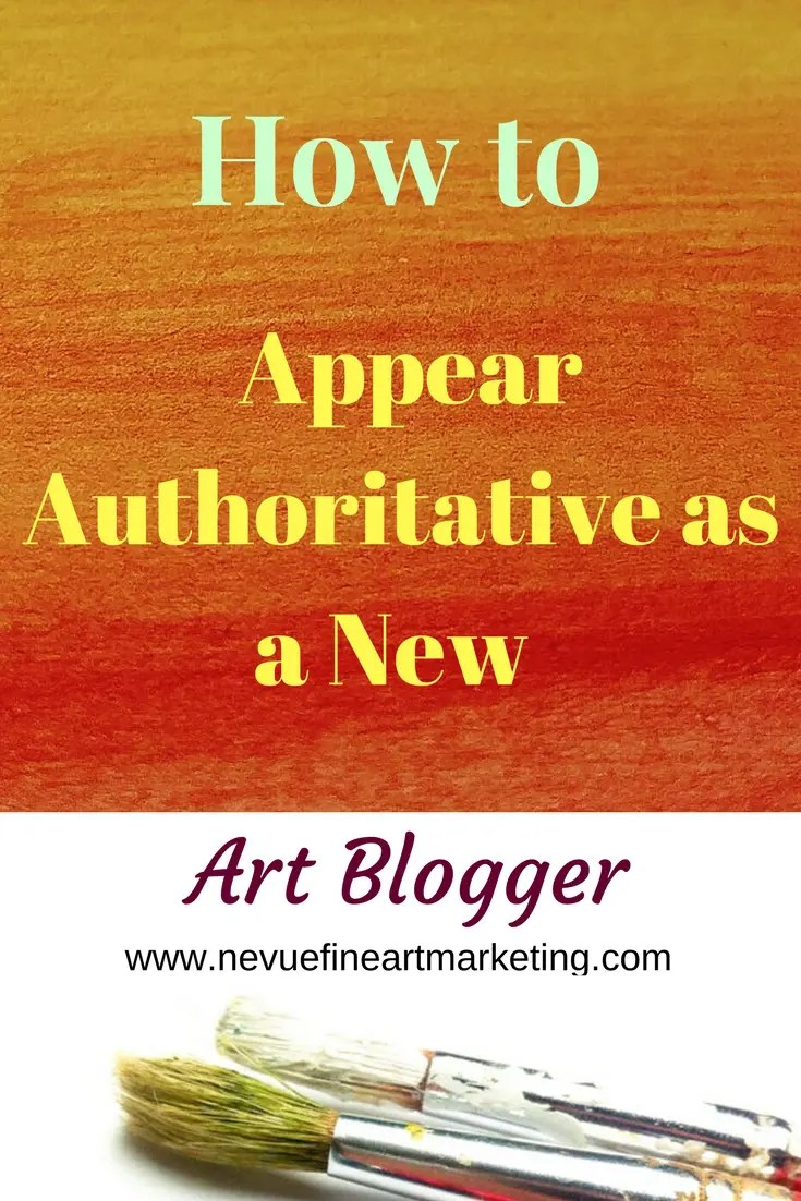 Are you just starting your art blog? Would you like to have your readers view you as an expert in your field? In this post, you will discover how to appear authoritative as a new art blogger so you can start generating sales.
