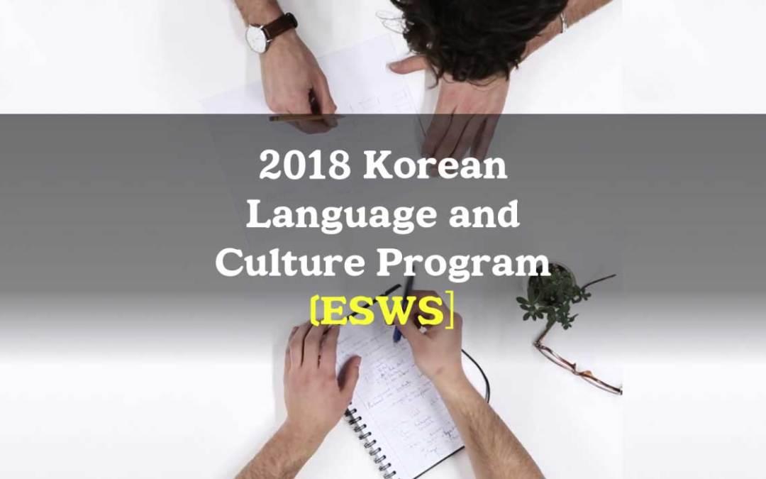 ESWS Korean Language and Culture Program