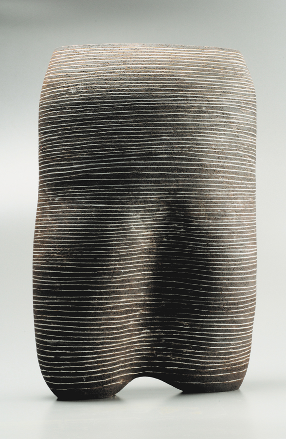 form, handbuilt, stoneware clay and porcelain inlays