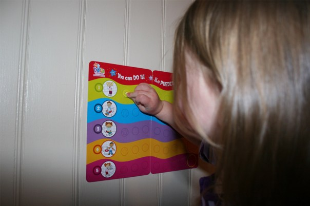Toddler with Potty Training Rewards Book